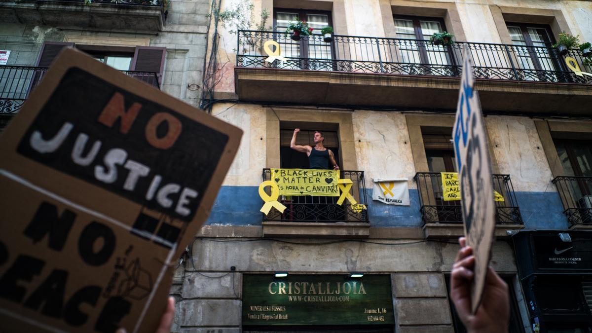 Protesta contra el racismo en Barcelona.