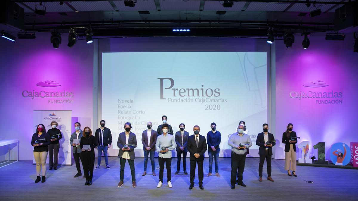 Ganadores de los Premios CajaCanarias2020.