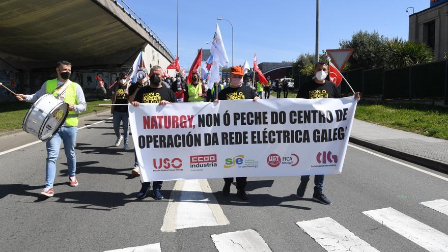 Protesta de trabajadores de Naturgy