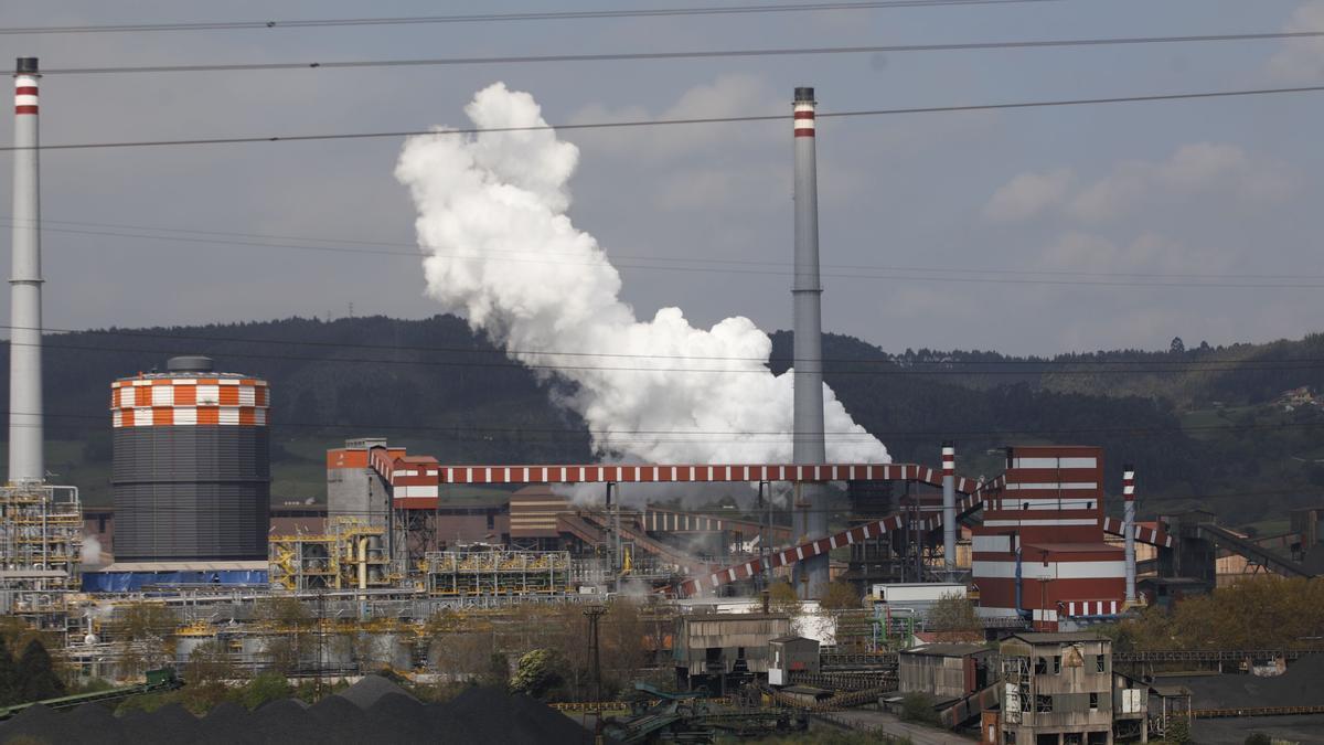 Instalaciones de Arcelor en Gijón.