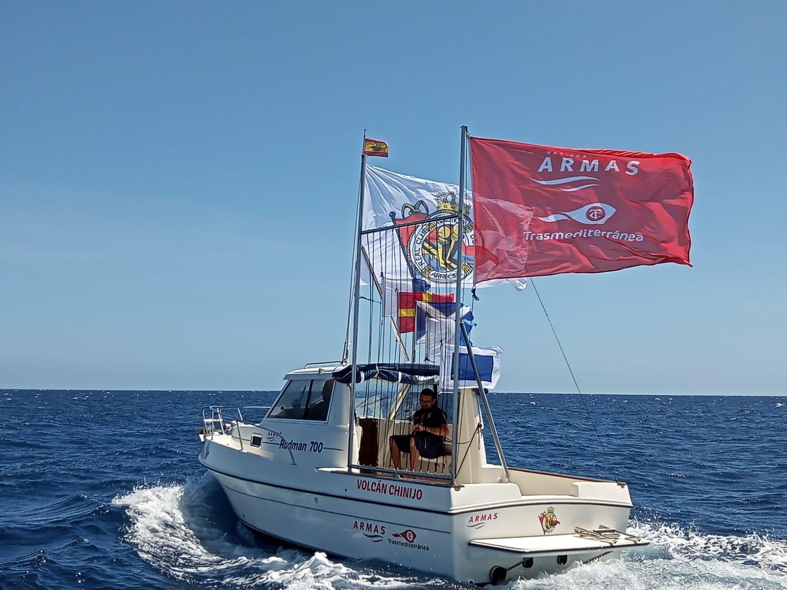 Naviera Armas amadrina el barco de escolta de regatas del RCN Arrecife Volcán Chinijo