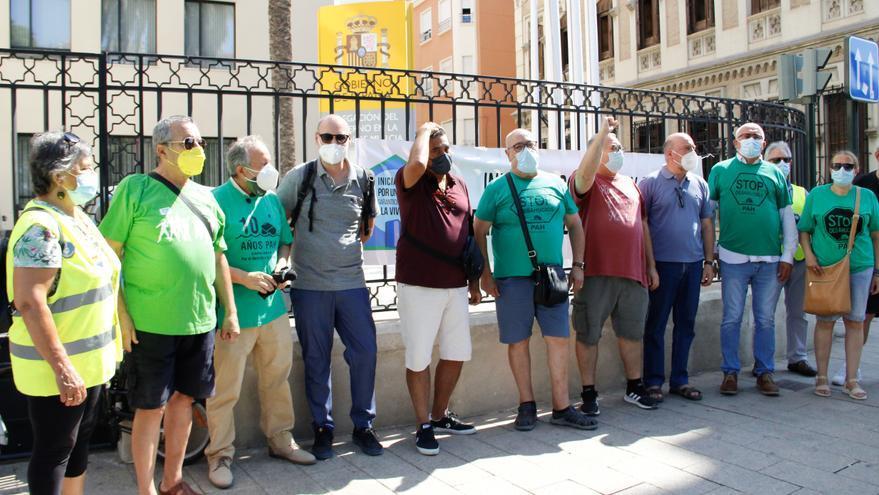 La PAH protesta ante el fin de la prórroga antidesahucios