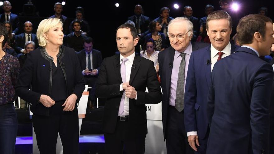 Los escándalos centran el debate entre los candidatos al Elíseo