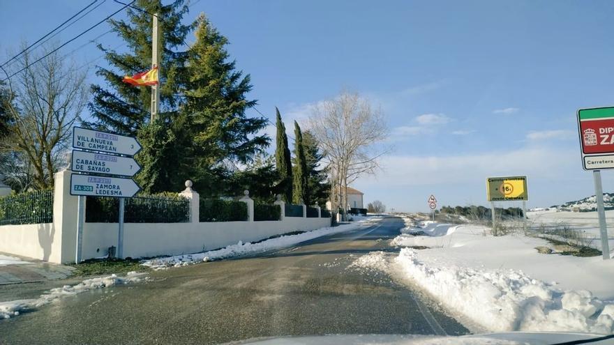 Borrasca Filomena en Zamora: Reabiertas tres carreteras en Tierra del Vino