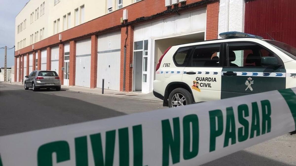 Calle de la vivienda del autor confeso del crimen de Rocío Caíz