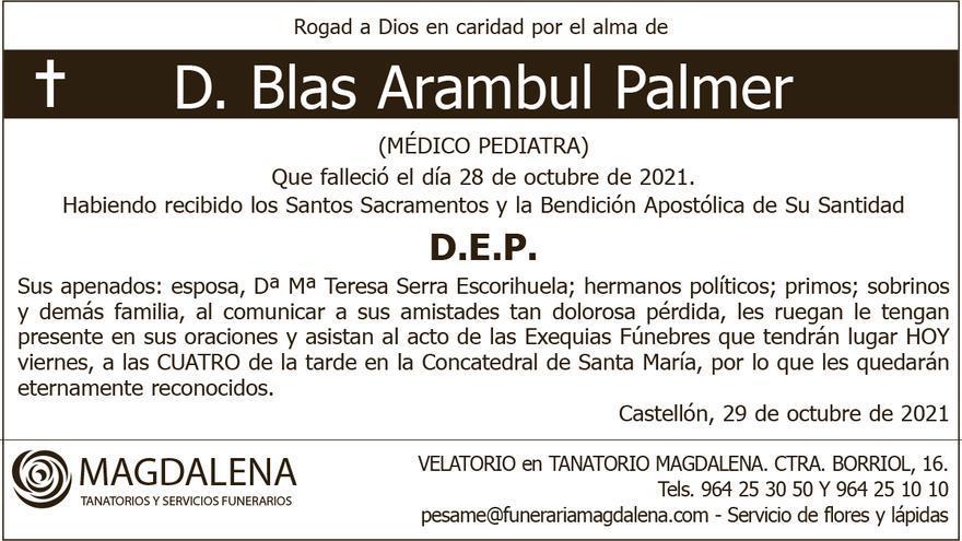 D. Blas Arambul Palmer