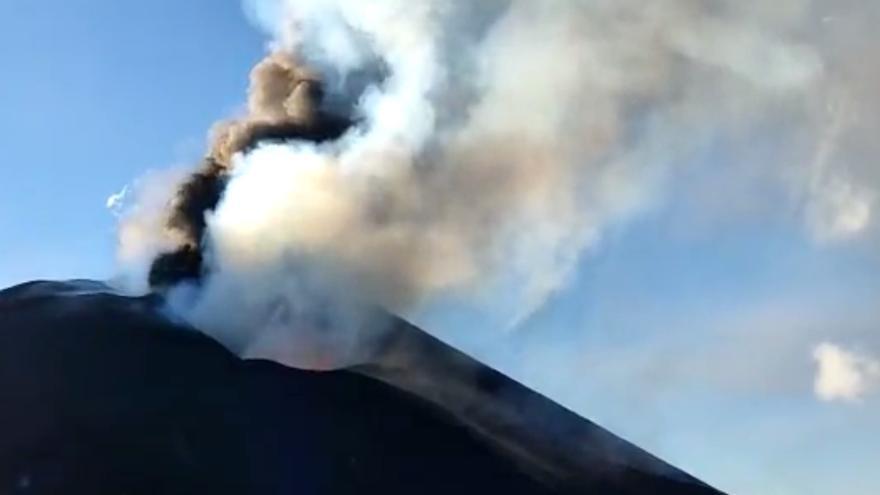 La erupción volcánica de La Palma, desde Tacande