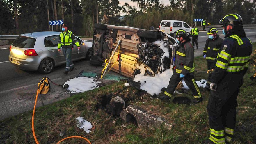 El cierre perimetral de Vilagarcía provoca un descenso de los accidentes de tráfico