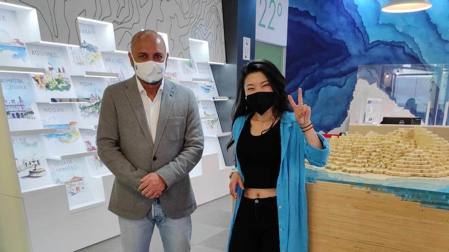 Jiaping, concursante de Masterchef 9, visita Gran Canaria