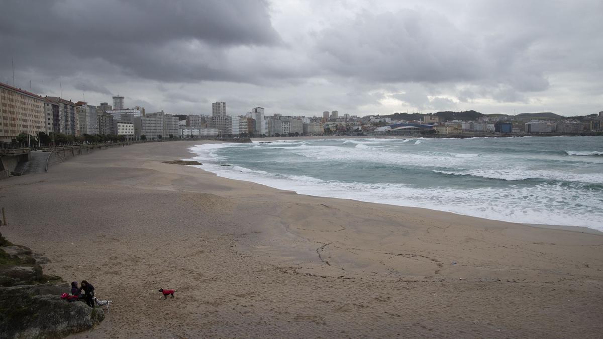 Nubes en A Coruña.