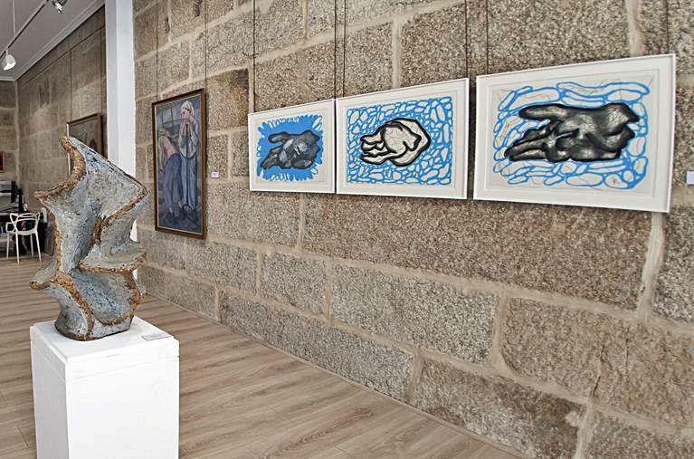 Algunhas das obras que integran os fondos da galería.