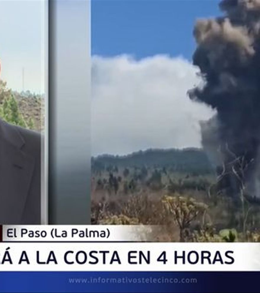 """Piqueras sale de plató para informar del volcán desde La Palma: """"Esto es impresionante"""""""