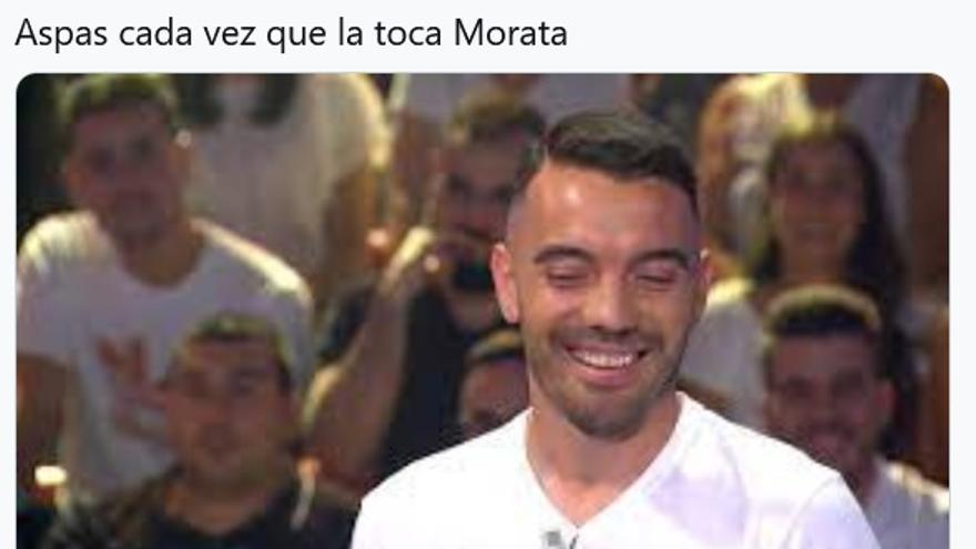 Los memes sobre Iago Aspas ante la pólvora mojada de Morata