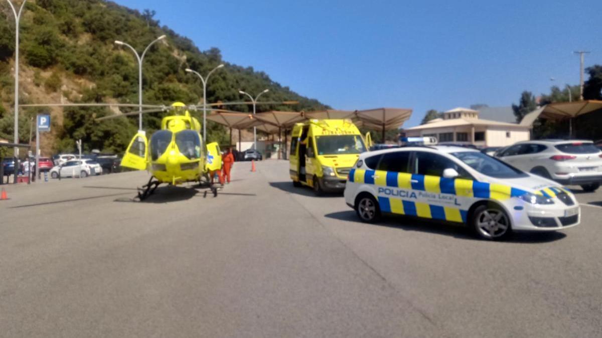 El desplegament de serveis d'emergència a la zona