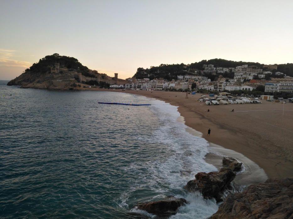 Imatge de Tossa de Mar captada dilluns passat al vespre.