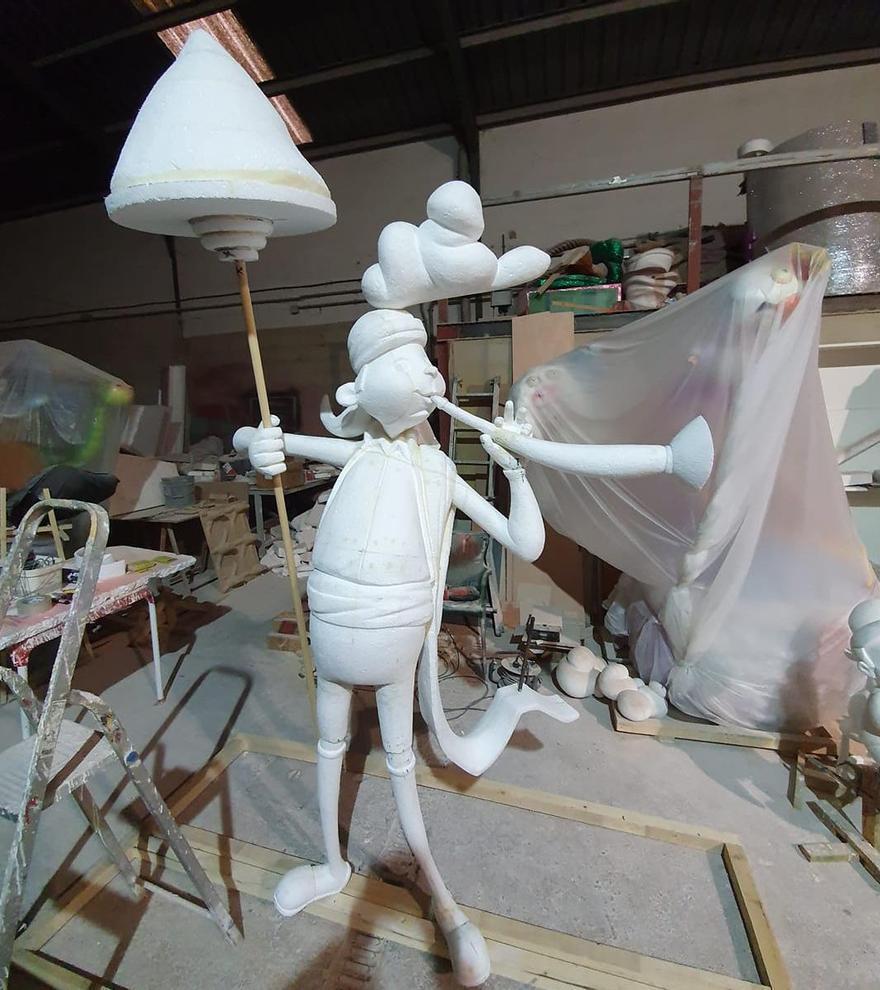 En el taller de Emilio Tamarit