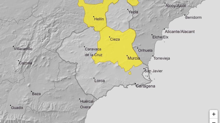 Aviso amarillo en la Región por altas temperaturas mañana