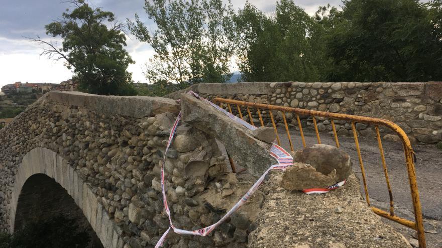 Els danys al pont de Sant Martí requeriran una reparació estructural