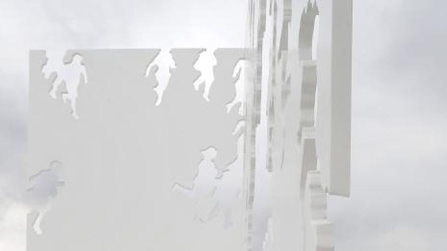 Avilés acoge la última obra al aire libre que creó el genial artista valenciano
