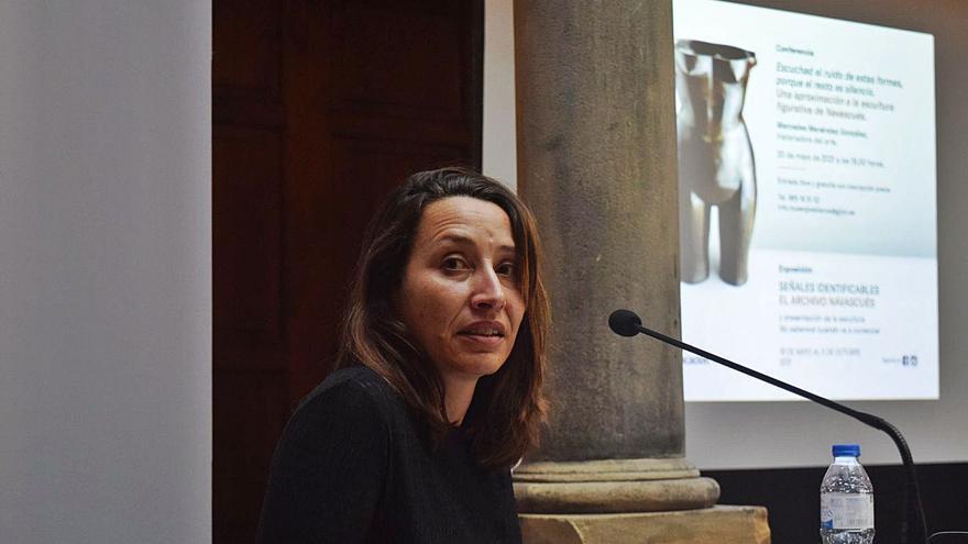 Navascués, visto por Mercedes Menéndez en el Museo Jovellanos
