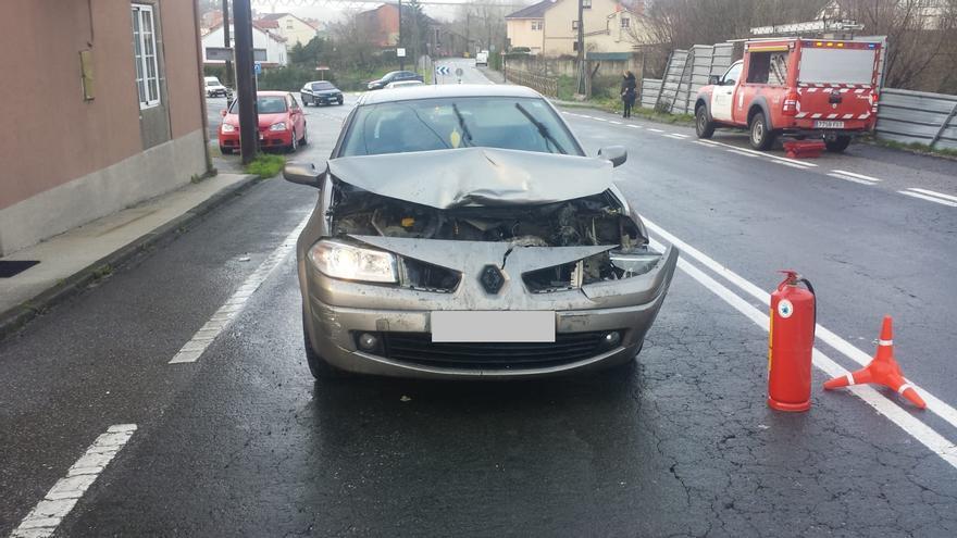 Un herido en un accidente ocurrido en Catoira