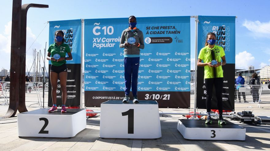 Hassous y Busienei, ganadores en el regreso de Coruña10