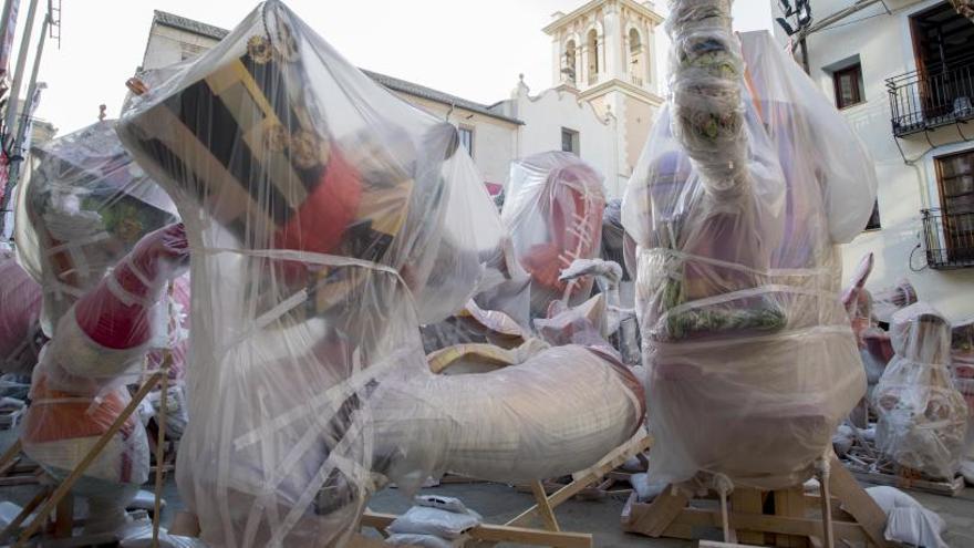 Tragsa comenzará a desmontar las fallas de las calles esta tarde