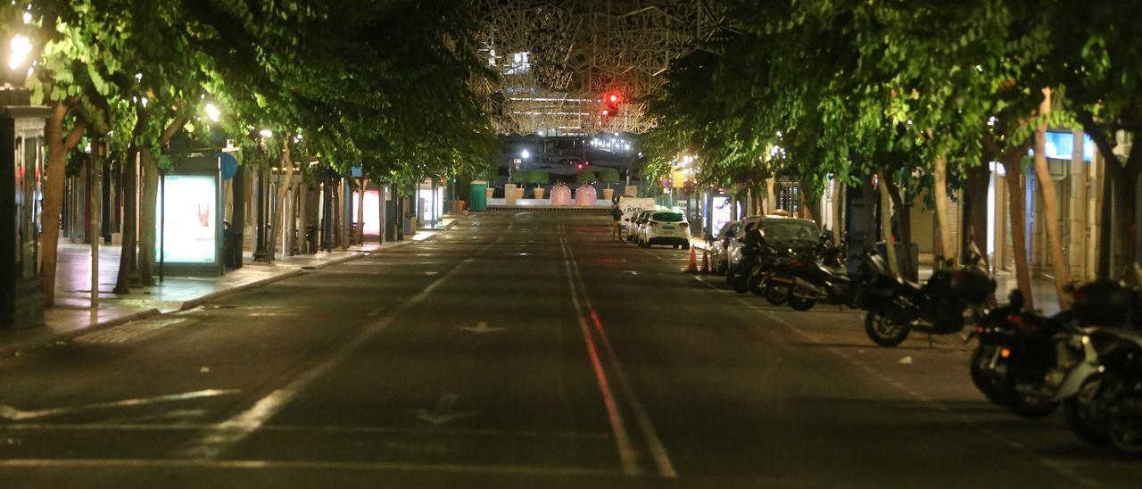Las calles vacías durante el toque de queda.