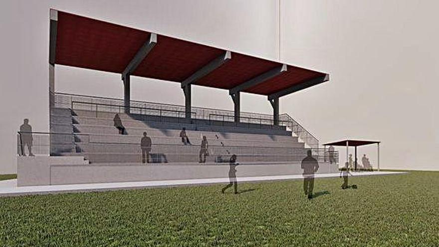 Culleredo construirá un nuevo graderío en el campo de Almeiras