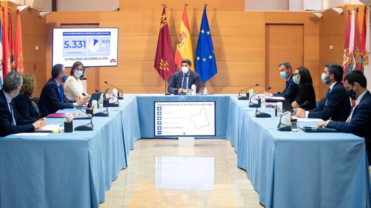 Reunión del Consejo de Gobierno en la que se han aprobado los presupuestos regionales.