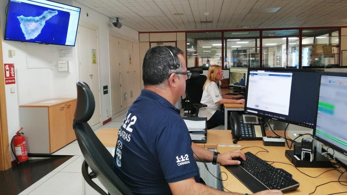 Sala operativa del Centro Coordinador de Emergencias y Seguridad (Cecoes). 1-1-2