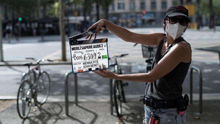 L'actor Carlos Cuevas ja roda 'Merlí. Sapere Aude' T2