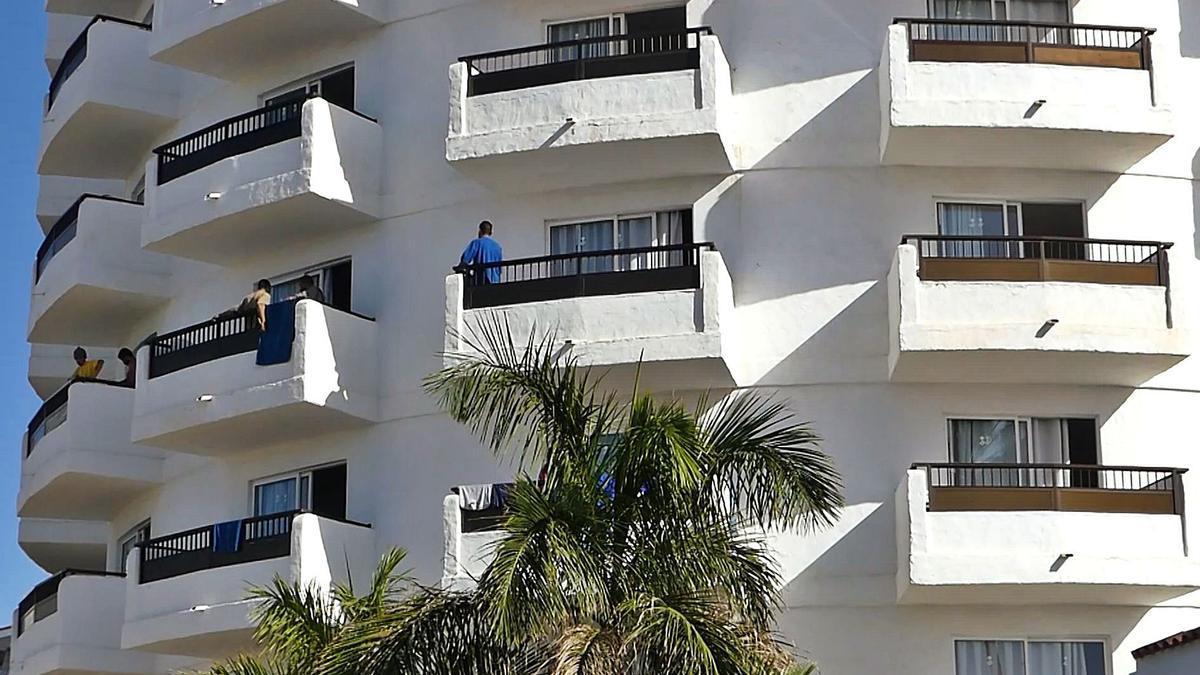 Hotel Waikiki en el sur de Gran Canaria, que albergó a migrantes.