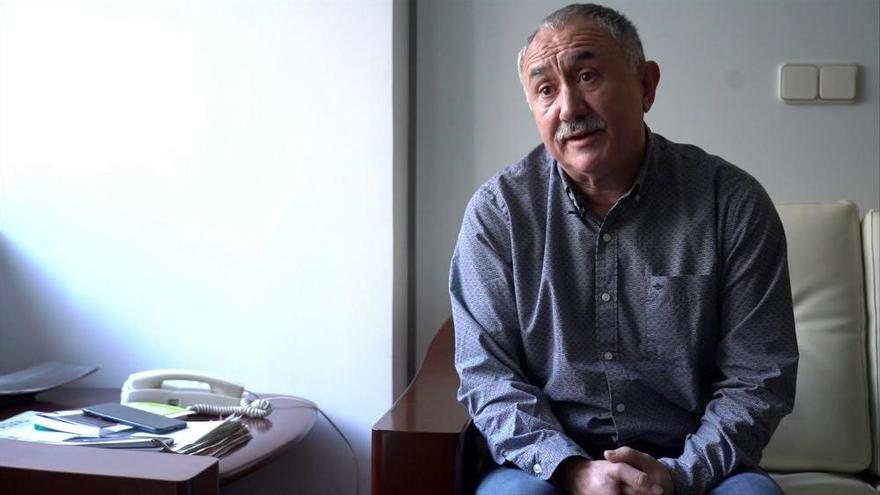 """Pepe Álvarez: """"El 40% de los trabajadores podríamos ser despedidos ahora"""""""