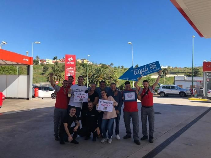 El, 03347, el Gordo cae en diez municipios de Gran Canaria