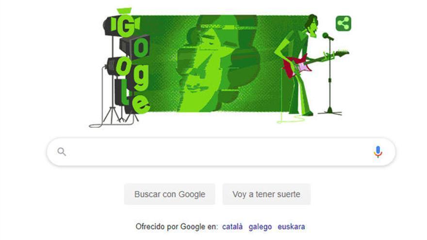 Google dedica su doodle a Luis Alberto Spinetta, mito del rock argentino