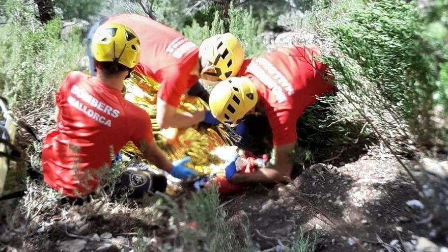 Un joven, herido grave tras caer desde15 metros en el Castell d'Alaró