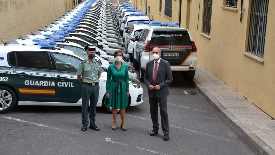 La Guardia Civil renueva en Canarias el 26% de la flota de vehículos