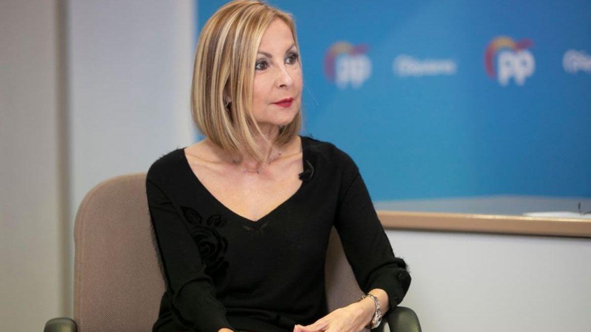 La presidenta del PP de Canarias, Australia Navarro.