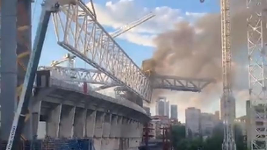 Extinguido un incendio en las obras del Santiago Bernabéu