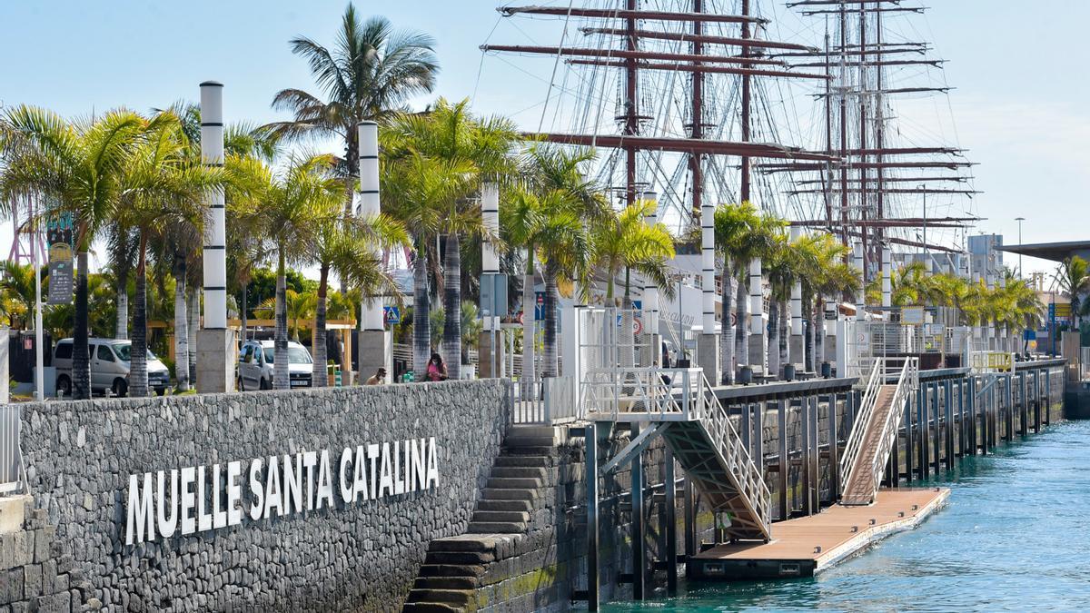 Muelle de Santa Catalina, en la capital grancanaria.