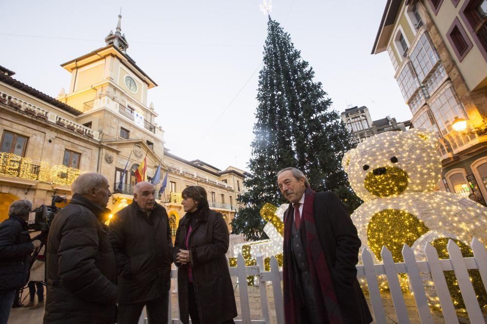 Luces navideñas en Oviedo