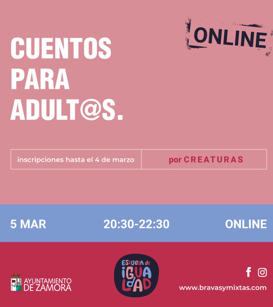 Cuentos para adultos - Escuela de igualdad (Online)