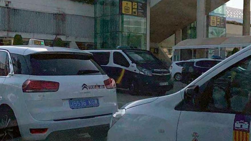 La Policía Nacional acude al aeropuerto de Palma por enfrentamientos entre transportistas