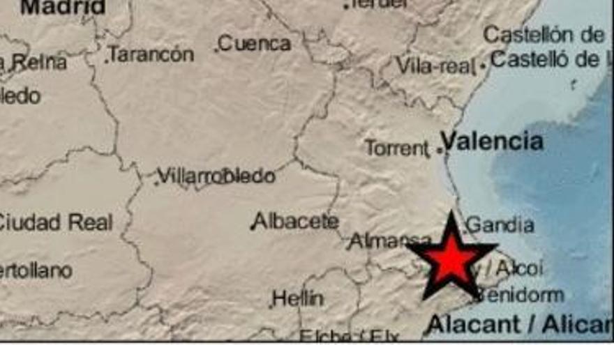 Un leve terremoto sacudió ayer la provincia de Alicante