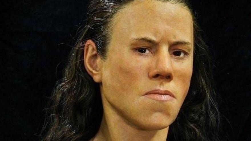 Rasgos masculinos en el rostro de una joven de hace 9.000 años