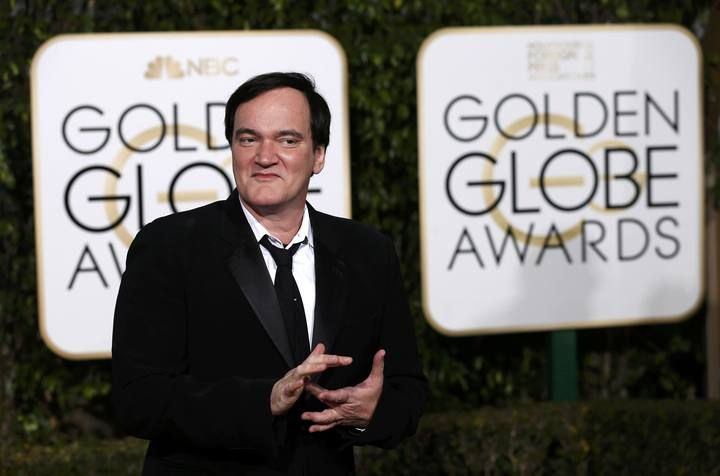 Quentin Tarantino arrives at the 73rd Golden Globe Awards in Beverly Hills