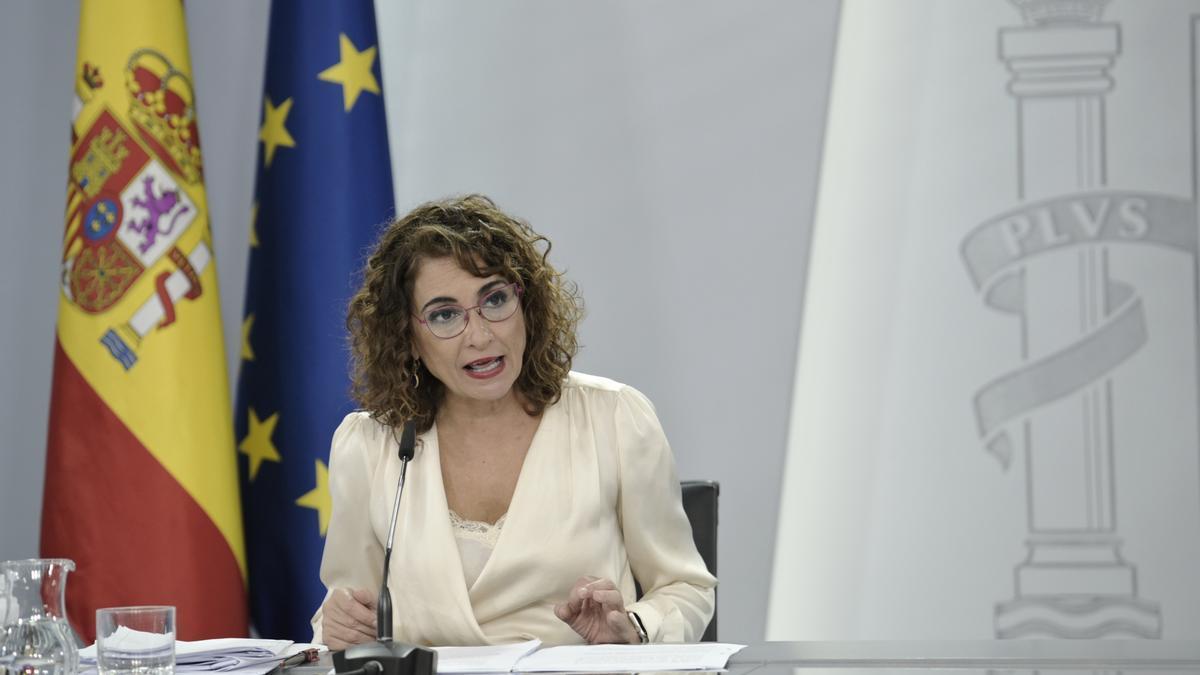 La ministra de Hacienda y Función Pública, Maria Jesús Montero.