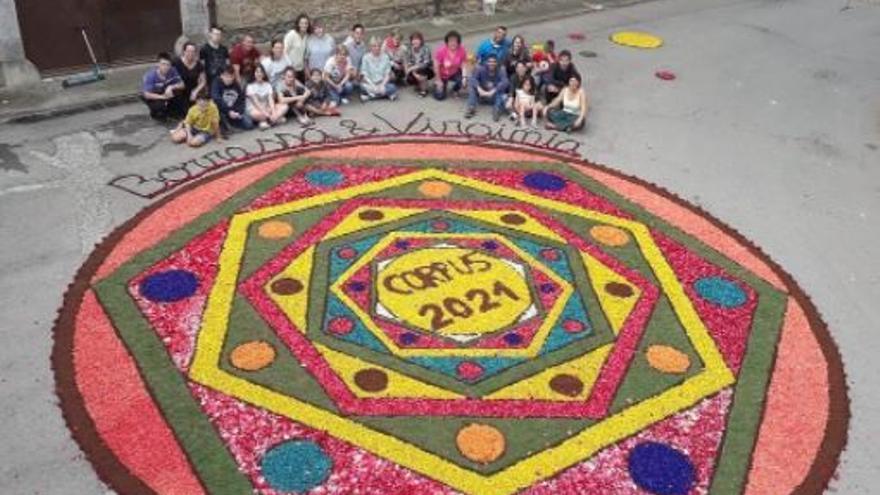 Borrassà s'omple de flors per la 16a Diada de Corpus