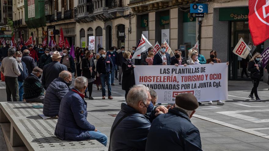 VÍDEO | Decenas de zamoranos respaldan la manifestación sindical del 1 de mayo en Zamora